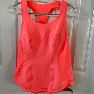 Lululemon Cardio Kick POP Orange Tank size 8